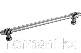 Мебельная ручка, замак, размер посадки 192 мм, отделка античное серебро