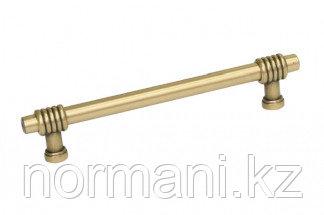 Мебельная ручка, замак, размер посадки 128мм, отделка золото темное
