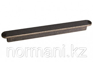 Мебельная ручка, замак, размер посадки 128 мм, цвет бронза античная