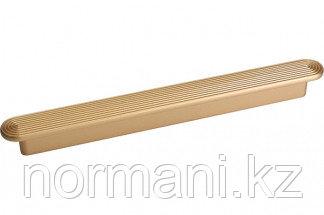Мебельная ручка, замак, размер посадки 192мм, цвет золото матовое