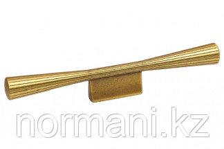 Мебельная ручка, замак, размер посадки 32мм, цвет бронза античная французская