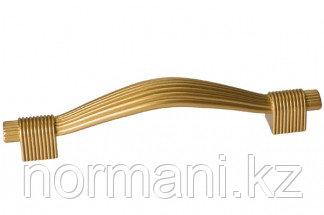 Мебельная ручка, замак, размер посадки 96 мм, цвет золото матовое