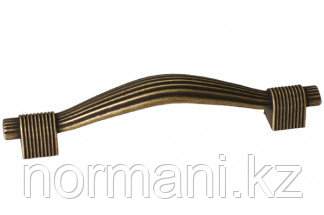 Мебельная ручка, замак, размер посадки 96 мм, цвет бронза античная
