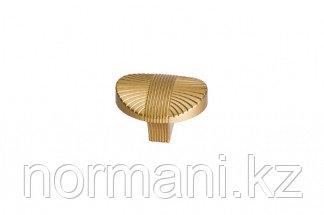 Мебельная ручка кнопка, замак, цвет золото матовое