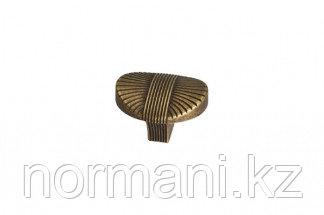 Мебельная ручка кнопка, замак, цвет бронза античная