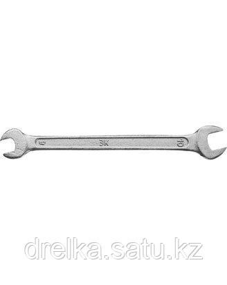 Ключ рожковый гаечный ЗУБР СТАНДАРТ, оцинкованный, 8х10мм, фото 2