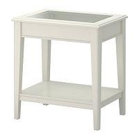 Стол придиванный ЛИАТОРП белый стекло ИКЕА, IKEA