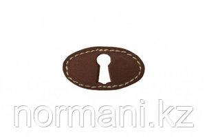 Накладка горизонтальная под ключ,отделка кожа