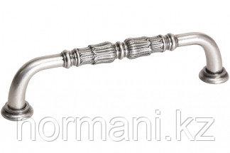 Мебельная ручка, замак, размер посадки 128 мм, цвет никель античный