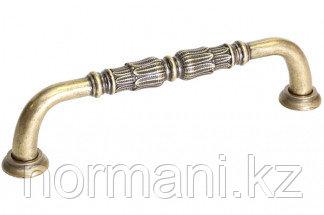 Мебельная ручка, замак, размер посадки 128 мм, цвет бронза английская