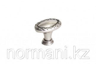 Мебельная ручка для кухни 32х20 никель античный
