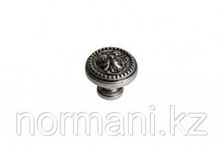 Мебельная ручка кнопка, замак, цвет никель античный