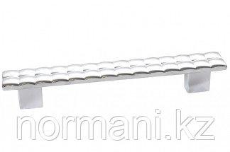 Мебельная ручка, замак, размер посадки 128мм, отделка хром глянец