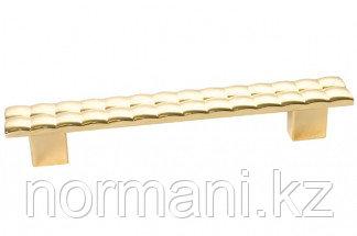 Мебельная ручка, замак, размер посадки 128мм, отделка золото глянец