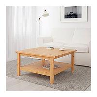 Журнальный стол ХЕМНЭС 90х90 светло-коричневый ИКЕА, IKEA