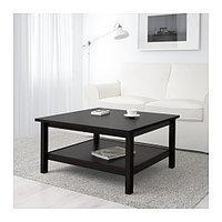 Журнальный стол ХЕМНЭС 90х90 черно-коричневый ИКЕА, IKEA