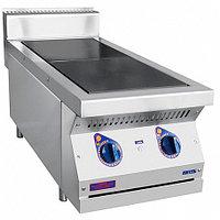 Плита электрическая 2-х конфорочная настольная без жарочного шкафа ЭПК-27Н (вся нерж) серия 700 (400х760х(370)