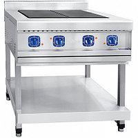 Плита электрическая 4-х конфорочная без жарочного шкафа ЭПК-48П (вся нерж) на подставке (840х900х(860)942мм, 1