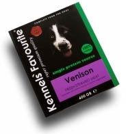 Влажный корм для собак всех пород Kennels' Favourite пропаренное мясо оленя