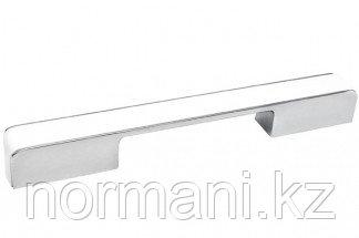 Ручка-скоба 160-224 мм, отделка хром глянец + белый пластик