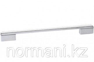 Ручка-скоба 224-192 мм, отделка хром глянец + белый глянец