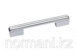 Ручка-скоба 128-096мм, отделка хром глянец + белый глянец