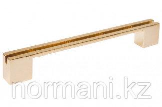 Ручка-скоба 160/192 мм, под вставку отделка золото глянец