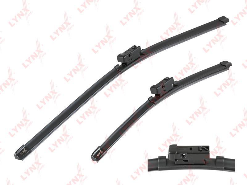 Бескаркасные щетки стеклоочистителя, комплект 600мм+400мм для а/м SKODA Rapid 12>, VW Polo 09>