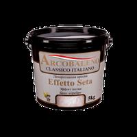 "Краска декоративная ""Arcobaleno Effetto Seta"" ""Avanti"" база: серебро 5 кг"