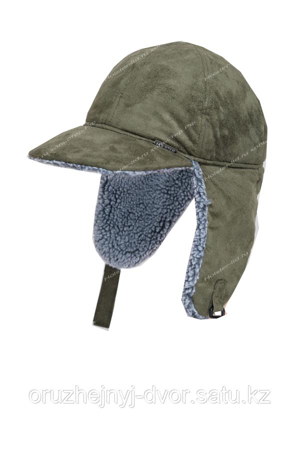 Бейсболка утепленная Кондор. тк.Замша, цв. олива (59-60, 61-62)