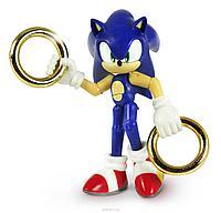 Игрушка-фигурка Соник с двумя кольцами, 9 см, фото 1