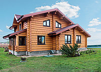 Строительство срубов из лафета. Алтайский кедр.