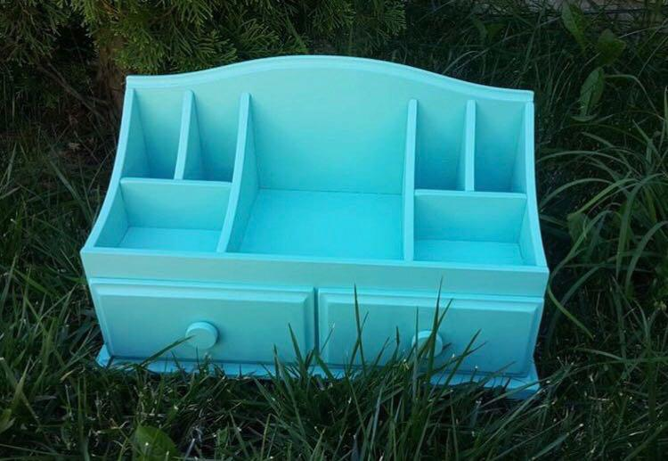 Комодик для косметики с 2 ящиками - Голубой