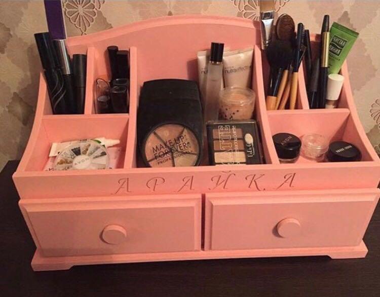 Комодик розовый для косметики
