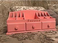 Деревянные комодики для косметики с 3 ящиками, фото 1