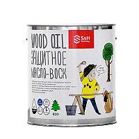 WOOD OIL 2 in 1 - Защитное масло-воск для наружного применения 0.9кг