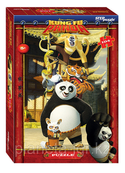Пазл 104 элемента. Kung-Fu Panda, Кунгфу Панда, Степпазл