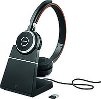 Беспроводная гарнитура Jabra Evolve 65 Charging Stand, Link370, Stereo UC (6599-823-499), фото 1