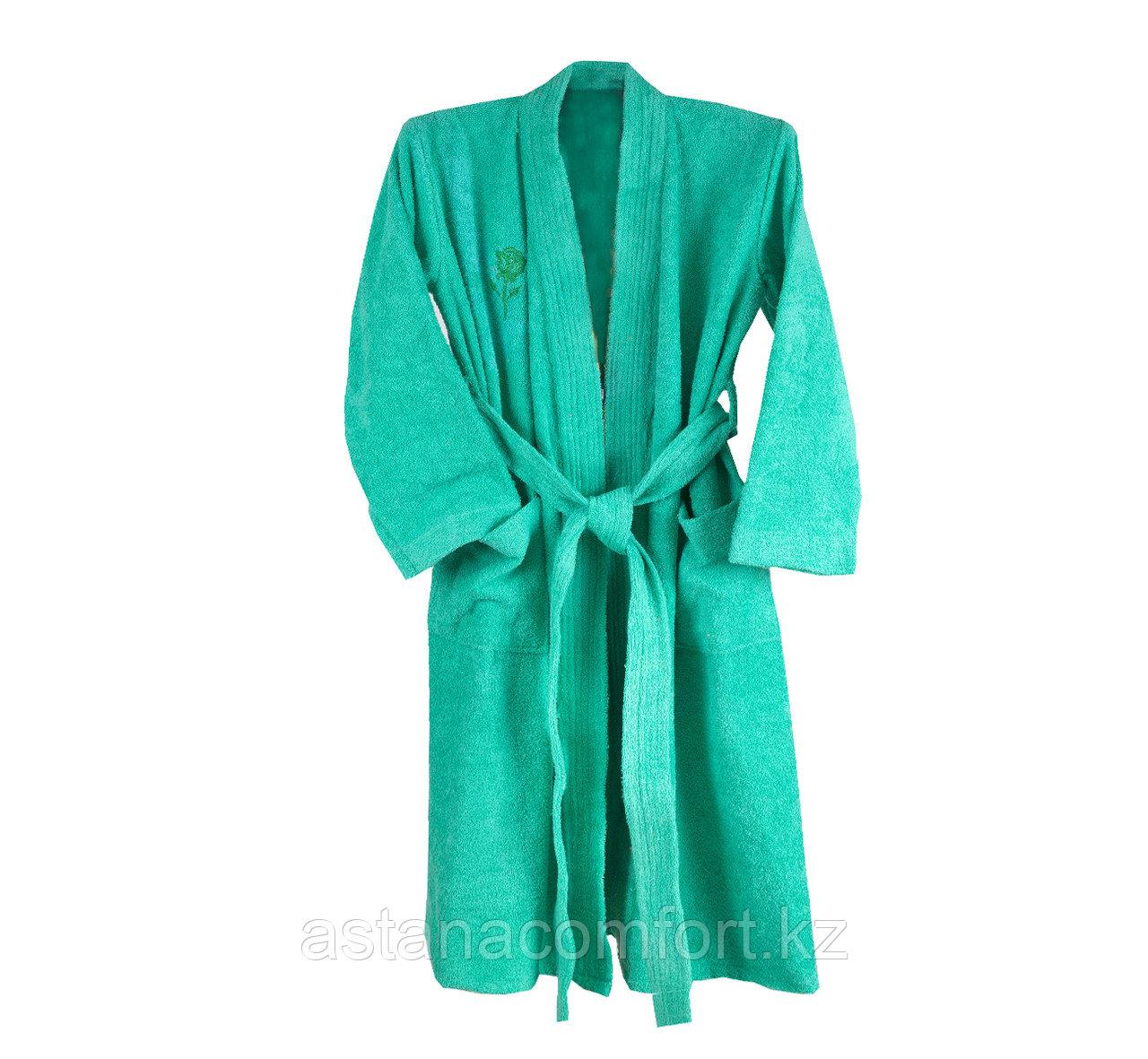 Женский халат-кимоно махровый
