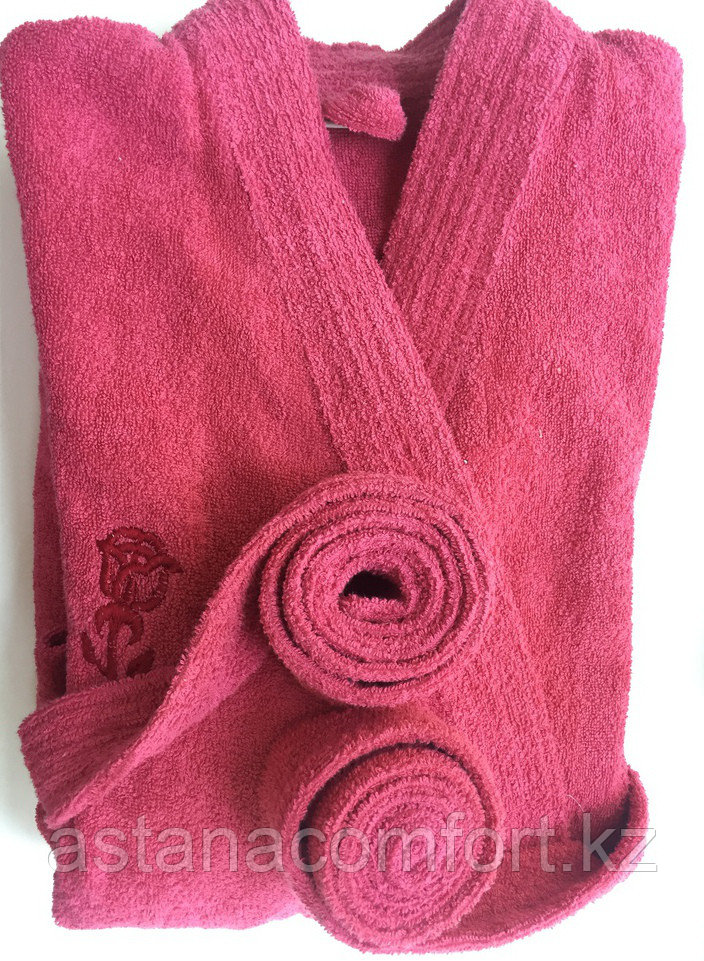 Банный халат-кимоно махровый женский