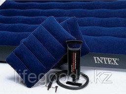 Двуспальный надувной матрас с двумя подушками и насосом, Intex 68765, фото 2