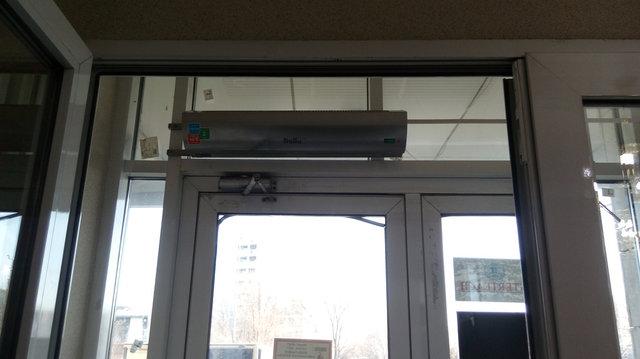 Продажа и монтаж тепловой электрической завесы. 3