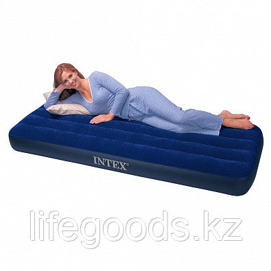 Односпальный надувной матрас 76х191х22 см, Intex 68950