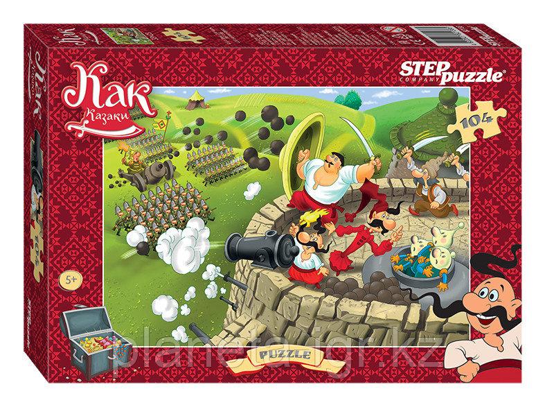 """Мозаика """"puzzle"""" 104 """"Как казаки..."""" (Киевнаучфильм)"""