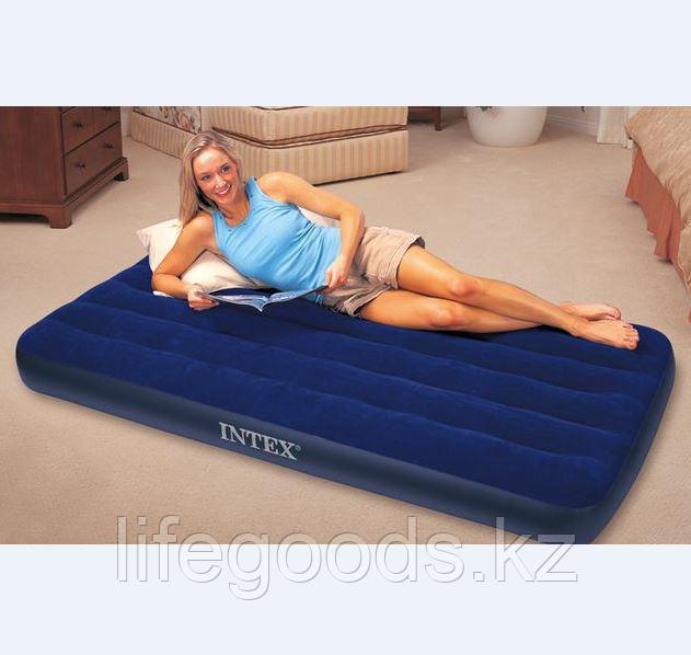 Односпальный надувной матрас 99х191х22 см, Intex 68757