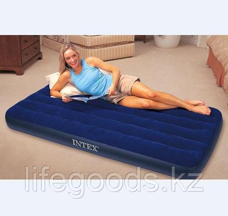 Односпальный надувной матрас 99х191х22 см, Intex 68757, фото 2