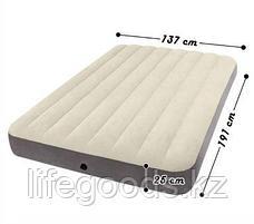 Полуторный надувной матрас 137х191х25см, Intex 64708 / 64102, фото 3