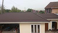 Металлочерепица Санторини Матовая шоколад 0,5мм Ю.Корея Ral 8017, фото 1