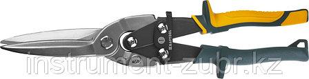Ножницы по металлу KRAFTOOL Alligator, прямые удлинённые, Cr-Mo, 290 мм, фото 2