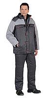 "Костюм ""ФАВОРИТ"" зимний: куртка дл., брюки тёмно-серый с серым тк. CROWN-230, фото 1"